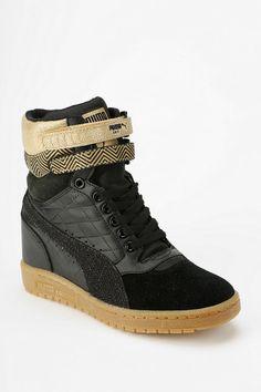 77f9a74bbda Puma Clear Sky Leather Hidden Wedge High-Top Sneaker Wedge High Tops