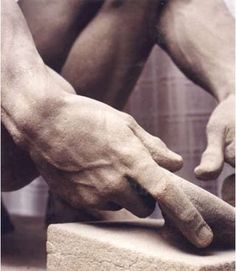 Michelangelo's Arrotino [the blade sharpener].  His gift to make stone exude life, unmatched to this day in my opinion.