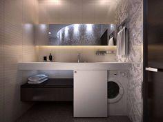 Ideas Bathroom Storage Washing Machine Small Laundry Rooms For 2019 Bathroom Sink Units, Bathroom Shelves, Bathroom Cabinets, Bathroom Flooring, Bathroom Furniture, Bathroom Storage, Bathroom Interior, Sink Shelf, Design Bathroom