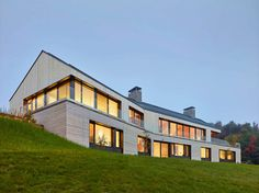 Atelier Kastelic Buffey have recently completed the Hilltop House, that sits on top of a slope within the Niagara escarpment in Ontario, Canada.