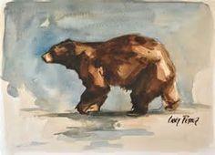 Black Bear Painting Watercolor