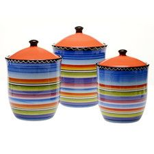 Tequila Sunrise 3-Piece Canister Set