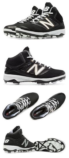sporting goods: New Balance Men S Mid-Cut 4040V3 Tpu Molded Cleat Shoes Black -> BUY IT NOW ONLY: $42.5 on eBay!