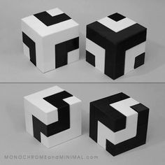 Concept gets real. Photos of the first versions of my new cubes. Based on the last picture (Segmented cube 2017 inspired by Blocos Modulares fom Franz Weissmann in design, Geometric Sculpture, Abstract Sculpture, Op Art, Art Cube, Cube Design, Design Art, Manipulation, Geometry Art, Illusion Art