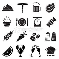 Food Icons Collection Royalty Free Stock Vector Art Illustration
