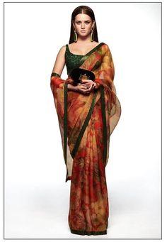 Sabyasachi Summer Collection 2020 For The Best Wedding Outfit Ideas! Sabyasachi Sarees, Lehenga Choli, Indian Sarees, Blue Lehenga, Indian Dresses, Indian Outfits, Pakistani Outfits, Indian Attire, Indian Wear
