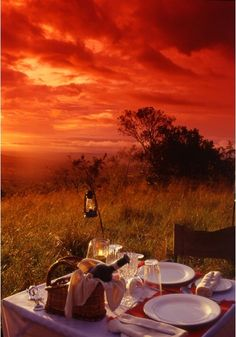 Romantic African Sunset Picnic BelAfrique - Your Personal Travel Planner - www.belafrique.co.za