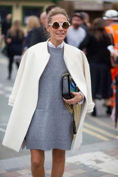 Novas inspirações fresquinhas do street style da semana de moda de Londres.