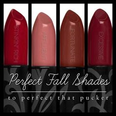Opulence Lipsticks by Younique! Perfect Fall Shades. Www.youniqueproducts.com/MonikaThedford