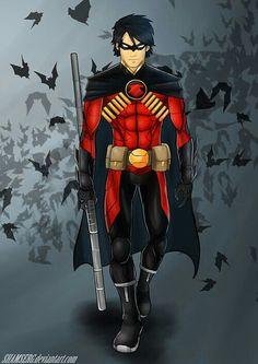 Red Robin by shamserg on DeviantArt Batwoman, Nightwing, Batgirl, Batman Robin, Robin Dc, I Am Batman, Superman, Héros Dc Comics, Marvel Dc Comics