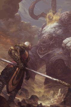 Sargeras vs Monk by EdCid.deviantart.com on @DeviantArt
