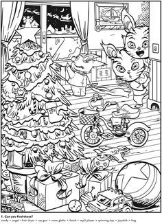 Welcome to Dover Publications Animal Antics Hidden Pictures