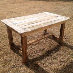 Rustic Farmhouse Table Handmade from Repurposed Pallet Wood | Six Person Seating on Etsy, $500.00