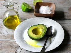 Gotta love the simple things in life...Avocado, Olive Oil and Salt...simply delicious!