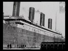 Historic Titanic Video Footage View old footage of the real ship itself. This is the 1912 version of the story told through a collection of surviving Titanic video clips. Rms Titanic, Titanic Sinking, Titanic Ship, Titanic Boat, Belfast, Modern History, British History, American History, Southampton