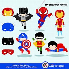 superhero super cute - Google Search Superhero Classroom, Superhero Room, Superhero Party, Clip Art Pictures, Felt Patterns, Super Hero Costumes, Digital Stamps, Digital Art, Diy Birthday
