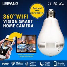 Aliexpress.com: Compre Panorâmica de 360 graus 960 P Câmera Escondida wi fi Luz…