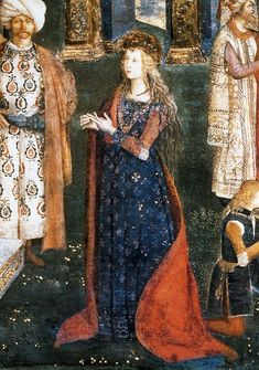 Bernardino di Betto, called Pintoricchio or Pinturicchio was an Italian painter of the Renaissance. He acquired his nickname, Pintoricchio, because of. Renaissance Clothing, Medieval Fashion, Italian Renaissance, Renaissance Art, Historical Art, Historical Costume, Historical Clothing, Medieval Costume, Medieval Art