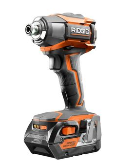 RIDGID Lithium-Ion Cordless Impact Driver Kit drives various fasteners easily with an open-frame motor that provides high torque output. Hd Design, Design Case, Tool Design, Arduino, Ridgid Tools, Workshop Organization, Rugged Style, Impact Driver, Machine Tools