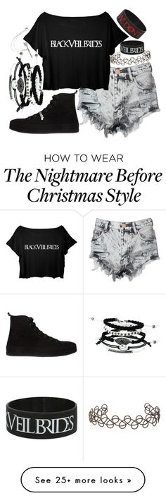 """Black Veil Brides"" by thefangoddess on Polyvore featuring Glamorous, Ann Demeulemeester, Acne Studios and claire's"