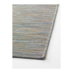 HODDE Rug, flatwoven, in/outdoor blue, beige in/outdoor blue/beige 200x300 cm
