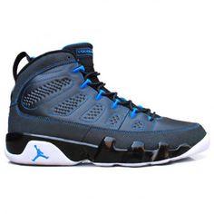 NIKE AIR JORDAN IX BLACK/PHOTO BLUE-WHITE #sneaker