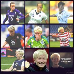 I ran into her at a grocery store and she was the nicest person I've ever met! MY HERO Girls Playing Football, Soccer Guys, Soccer Players, Football Soccer, Softball, Soccer Problems, Megan Rapinoe, Soccer Pictures, Professional Soccer