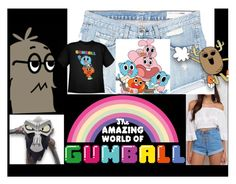 """""""Amazing world of Gumball"""" by poplove492 ❤ liked on Polyvore featuring art"""
