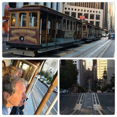 A trolley ride to end a perfect day. #sanfrancisco #trolleycar