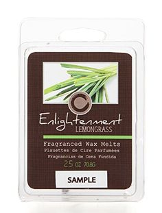 Hosley Candle Company Lemongrass (Enlightenment) Scented Wax Cubes / Melts - 2.5 oz. Hand poured wax infused with essential oils *** Find out more about the great product at the image link.