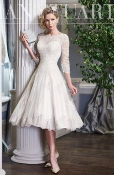 High Neck Fit and Flare Wedding Dress  with No Waist/Princess Seams. Bridal Gown Style Number:33503970