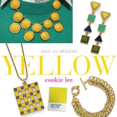 Radiant Orchid, Cobalt Blue and Lemon Yellow...spring and summer's color palette! #cookielee