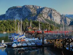 Colourful Squamish Marina - Kyle Pearce Top 10 places to hike near Vancouver, BC Brandywine Falls, Sea To Sky Highway, Underground Tour, Capital Of Canada, Vancouver British Columbia, Western Canada, Day Hike, Hiking Trails, Hiking Spots