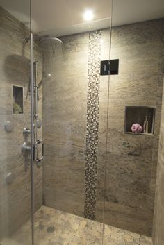 Vein Cut SIlver Travertine Design By Catherine Tonon Installed by ATD Contracting Services
