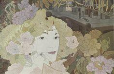 George de Feure - Femme parmi les fleurs