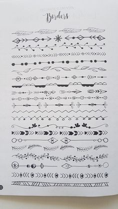 hand drawn borders - text deviders #bulletjournaling #bulletjournal #bujo #doodles