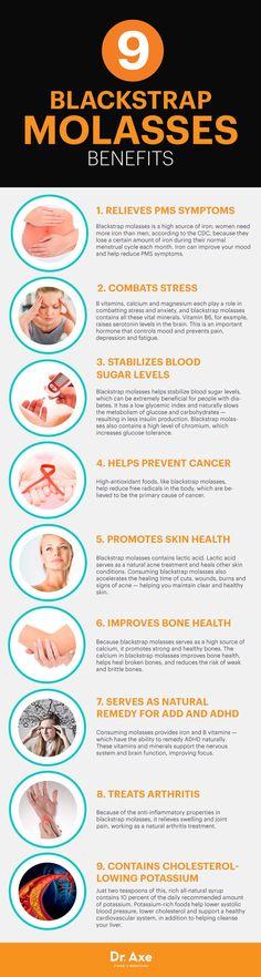 Blackstrap molasses benefits - Dr. Axe http://www.draxe.com #health #holistic #natural natural health tips, natural health remedies
