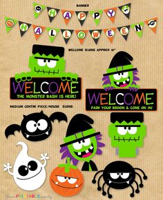 Bigger HALLOWEEN Party Package for 2012 - Special Price 6.00USD - Print Yourself Digital files by Your Printable Party. $6.00, via Etsy.