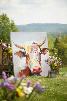 """Brilliant and charming, """"Bessie"""" is a delightful and distinctive work of art that's sure to leave you smiling no matter the season or occasion. We're smitten. 