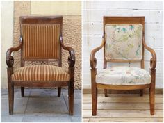 Antes y Después - Un sillón restaurado y re-tapizado. Studio Alis - Barcelona