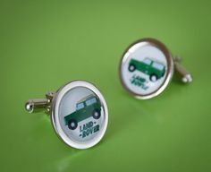 Lovely Set of Land Rover Cufflinks by WeeHings on Etsy