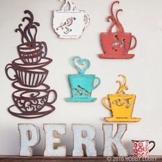 Perk Up Your Coffee Area With Multi Colored Wall Decor! ☕ #CoffeeMe
