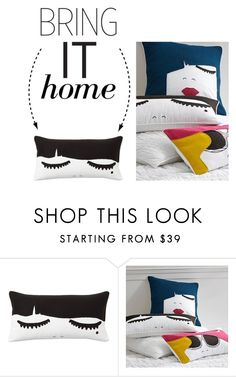 """Bring It Home: PB Teen Lashes Pillow Cover"" by polyvore-editorial ❤ liked on Polyvore featuring interior, interiors, interior design, home, home decor, interior decorating, PBteen and bringithome"