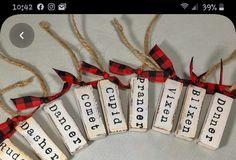 Jenga blocks from Dollar Tree turned into rustic farmhouse ornaments Christmas Wood Block Crafts, Dollar Tree Christmas, Wooden Christmas Ornaments, Dollar Tree Crafts, Holiday Crafts, Christmas Ideas, Christmas Bulbs, Friend Valentine Gifts, Friend Birthday Gifts