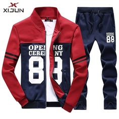 New Men Print Tracksuit Sweat Outwear Pants Sports Suit Fashion Casual Running Suit, Track Suit Men, Sport Pants, Suit Fashion, Hoodie Jacket, Mens Sweatshirts, Swagg, Mens Suits, Men Casual
