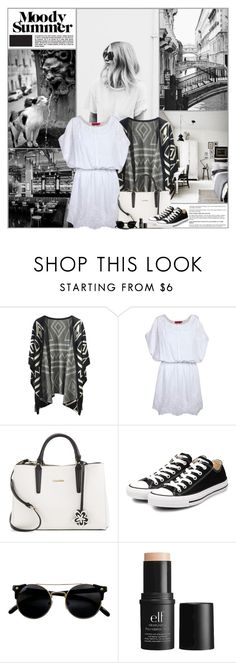 """""""Moody Summer"""" by kittyfantastica ❤ liked on Polyvore featuring Boohoo, Calvin Klein, Converse, e.l.f. and bedroom"""