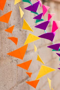Felt Triangle Garlands