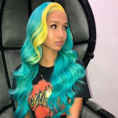 Stylish Weave hairstyles for prom weave hairstyles; weave hairstyles sew in; weave hairstyles for black women Black Girls Hairstyles, Pretty Hairstyles, Hairstyle Ideas, Natural Hair Styles, Short Hair Styles, Rainbow Wig, Beautiful Hair Color, Beautiful Women, Hair Laid