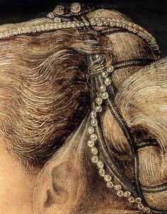 Antonio del Pollaiuollo Portrait of a Lady (detail)