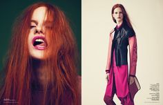 think pink - fashionpuppe.com redhead model red hair Magdalena Jasek